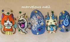 妖怪ウォッチ : Character nail art