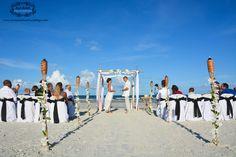 Love this black and white destination wedding on St. Augustine beaches. #staugustine #beachwedding #staugustineflorida #staugustinewedding #affordablestaugustinewedding #floridabeachweddingdecor