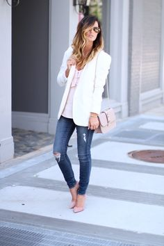 blush, white and den