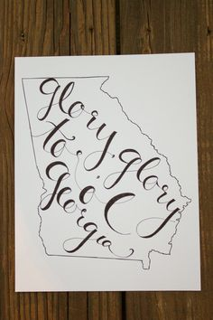 LOVE LOVE LOVE Georgia: Glory to ol Georgia Print. $15.00, via Etsy.