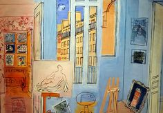 Raul Dufy - The Artist's Studio at Phillips Collection Art Gallery Washington DC