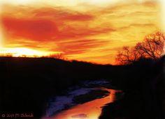 Smoky Hill River Sunset Ellsworth KS by MSchmidtPhotography.deviantart.com on @deviantART