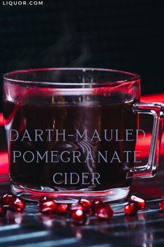The Darth Mauled Pomegranate Cider is the perfect batch cocktail for your Stars Wars-themed party. This whiskey drink is spicy and sweet with hints of dark fruit and will certainly bring guests to the warm side. Easy Cocktails, Holiday Cocktails, Cocktail Recipes, Hot Toddy, Irish Coffee, Pina Colada, Star Wars Party, Alcohol Recipes, Drinks Alcohol