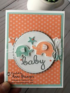 Little Elephant Baby Card - Stamp With Anne!