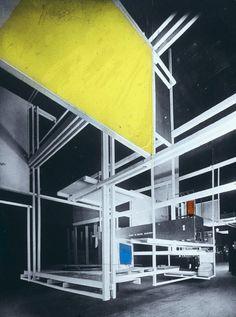 Frederick John Kiesler, 'Frederick Kiesler, Raumstadt [City in Space], 1925, Exposition internationale des Arts décoratifs et industriels modernes, Paris'