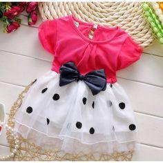 Cutiepie Baby Girl Partywear Gorgeous Dress - Pink & White #MyBabyCart #PartyDresses #girlsfrocks