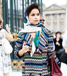 i already do this with my pashminas, but i love how glamorous and classic it looks with a silk scarf