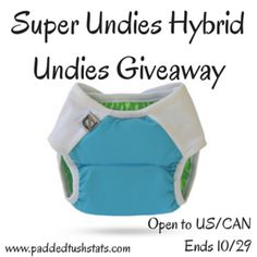 Super Undies Hybrid Undies Giveaway. Winner receives one shell and three inserts (open to US/CAN, ends 10/29).