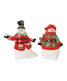 Take a look at this Friends Gather Here Salt & Pepper Shakers by Fitz and Floyd on #zulily today!