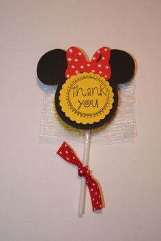 Minnie mouse lollipop favors by craftygio on Etsy, $15.00