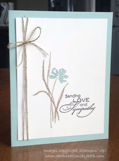 MISTI Magic: Stampin Up Love & Sympathy; www.cardcreationsbybeth.com