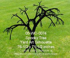 05-WC-0074 - Spooky Tree Yard Art Woodworking Pattern