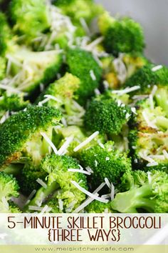 This easy skillet broccoli side dish is super tasty and takes less than 10 minutes to make proving that a good side dish should be simple and totally stress-free. Skillet Broccoli Mel's Kitchen Cafe melskitchencafe All Mel's Kitchen Cafe R Best Side Dishes, Healthy Side Dishes, Side Dish Recipes, Healthy Snacks, Healthy Eating, Healthy Recipes, Broccoli Recipes, Vegetable Recipes, Tasty Broccoli Recipe