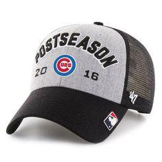 aba87172729 Men s Chicago Cubs  47 Gray Black 2016 NL Central Division Champions Locker  Room Adjustable Hat