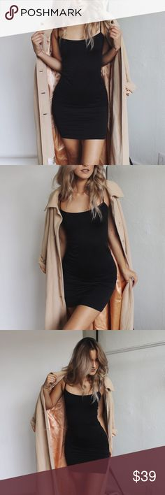 Revolt Society Black Seamless Slip Dress New! Available on 07/29. One size fits S-M--L. A must have in everyone's closet. An extremely soft and comfortable dress. It's stretchy and body forming. Revolt Society Dresses Mini
