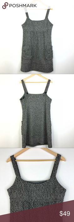 """Walter Baker Wool Blend Dress Size L Great condition. Walter Baker Wool Blend Dress Size L.  Measurements laying flat: Chest 19"""" Hips 23"""" Length 37"""" 40% wool, 40% rayon, 20% polyester  Gray and black.  Two front pocket styling Walter Baker Dresses Midi"""