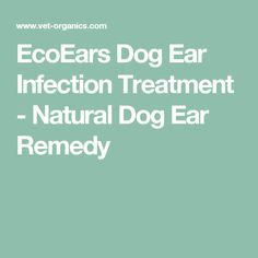 EcoEars Dog Ear Infection Treatment - Natural Dog Ear Remedy