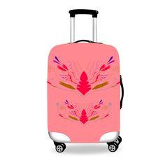 Luggage cover Sweet Ethno  Folk Pink