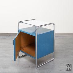 Thonet Stahlrohr Schränkchen im Bauhausstil - Bild 4