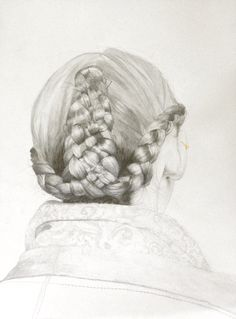 Etude de chevelure #1 (Taralis Automne-Hiver 2011), crayon, fusain, or liquide et feuille d'or sur papier, 30 x 50 cm, juin 2016.  ---------------------------  Women's hair study #1 (Taralis Automne-Hiver 2011), pencil, charcoal, liquid gold and gold leaves on paper, 30 x 40 cm, june 2016.  ---------------------------  For sale @ http://www.adrienpatout.com/  E-mailing list (updates, available works,...)…
