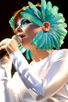 This in different colours as part of a ren-fest 'stume.   Oh, and this is Bjork