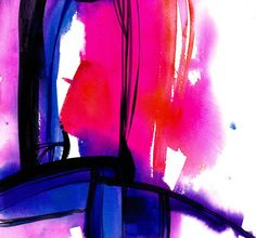 Watercolor Abstraction 114 by KathyMortonStanion