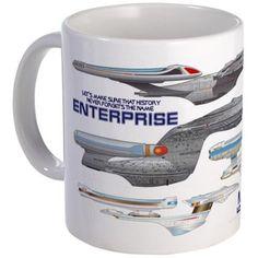 U.s.s. Enterprise Lineage Mug Mugs on CafePress.com