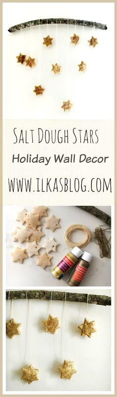 A fun DIY Holiday Craft Idea. Made with Salt Dough. Easy to follow instructions and kid - friendly. #DIY #Craft #Christmas