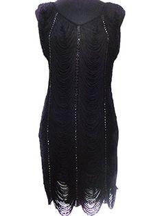Amazon.com  Vikoros Women s S M Fit 1920S Beaded Fringe Tassel Flapper  Vintage Gastby Dress  Clothing 249e7d2afa6f
