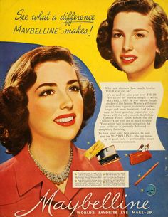 1949 Ad Maybelline Cosmetics