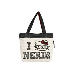 1b9a3adac96b Loungefly Hello Kitty I Love Nerds Tote ( 52) ❤ liked on Polyvore featuring  bags