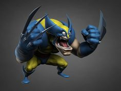 ArtStation - Wolverine, Mike Edwards - Based on concept by Jeff Agala Marvel Comic Character, 3d Character, Character Design, 3d Sketch, Cool Art, Nice Art, Logan Wolverine, Samurai Art, Marvel Dc Comics