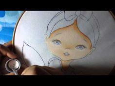Pintura en tela niña nochebuena # 1 con cony - YouTube