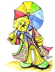 The Sixth Doctor is played by Colin Baker in the 1984 Doctor Who TV Series, this Cuddly Doctor Who Sketch Doctor was finished in black ink and watercolor pencil.