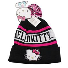 07f78c4a19d Hello Kitty Black and Pink Colored Beanie   Price   26.85  amp  FREE  Shipping