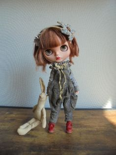 ◆  ブライスちゃん Outfit   サルエルオールインワン  3点セット  ◆