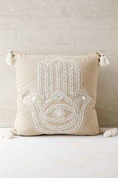 Plum & Bow Hamsa Pillow - Neutral One // HAATI CHAI