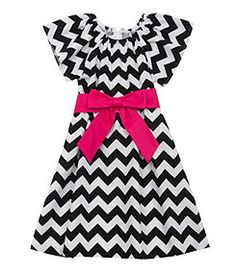 Rare Editions 2T-6X Chevron-Printed Knit Dress