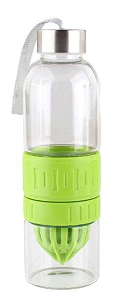 Bestwoohome Glass Fruit Infuser Juicer Bottle Drink Blender Mixer550mlGreen * Click on the image for additional details.