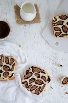Découvrez le pain brioché façon « imprimé léopard » ! Étonnant et gourmand, vous allez faire un carton pour le goûter !