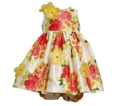 eeeff23071e0 Bonnie Baby Girls 1224 Months Floral Shantung Dress 24 Months Multi * Click  image to review