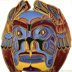 Northwest Coast Mask (FS II.380) | From a unique collection of prints and multiples at https://www.1stdibs.com/art/prints-works-on-paper/prints-works-on-paper/