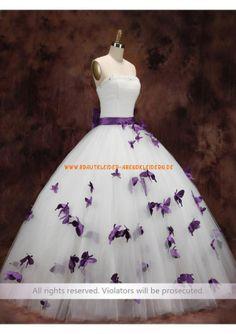 Modische Brautkleid A-Linie 2013 aus Organza mit Blumen