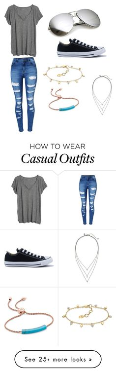"""Everyday casual"" by liabekker on Polyvore featuring Madewell, WithChic, Converse, Monica Vinader and Banana Republic"