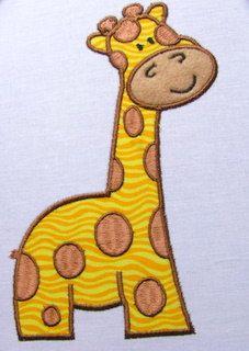 Giraffenbaby Maschine Stickerei Applique Design