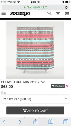 Potential shower curtain https://society6.com/product/peach-rose-baby-blue-aztec-tribal-native-pattern_shower-curtain#s6-989630p34a35v287