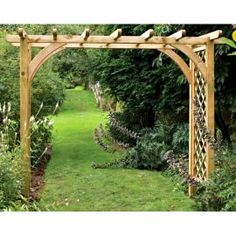 Forest Garden Large Ultima Pergola Arch - I can just see this archway planted with Passiflora over our front driveway ......