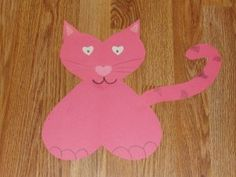 preschooler Valentine's Day craft -- a variety of animals made from hearts via There's Just One Mommy Valentines Day Crafts For Preschoolers, Preschool Crafts, Kids Crafts, Craft Projects, Valentines Day Hearts, Valentines For Kids, Valentine Day Crafts, Cat Crafts, Animal Crafts