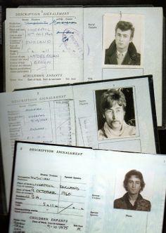 John Lennon's passports.