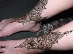 henna anklepieces